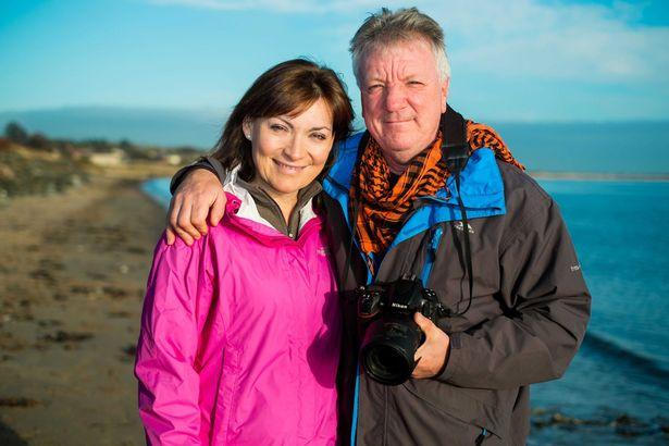 لورين وزوجها ستيف في اسكتلندا.