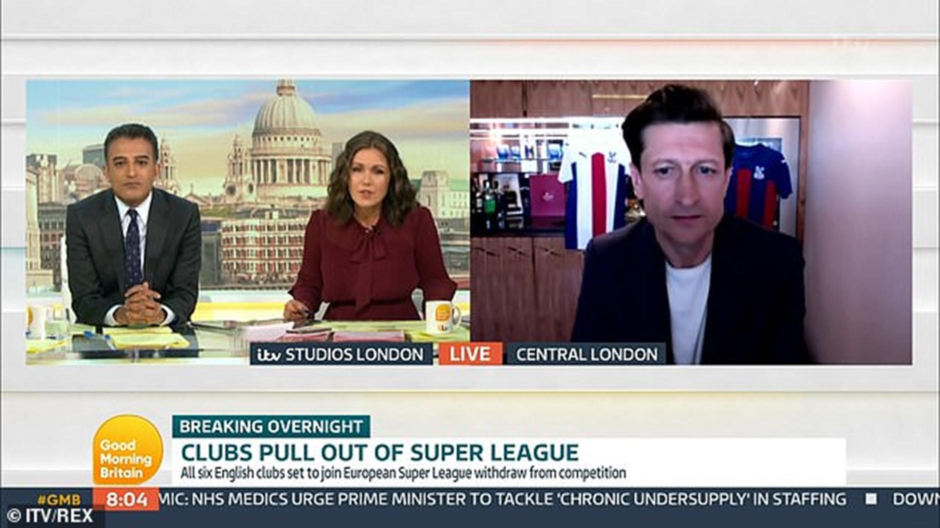 مقابلة سوزانا ريد مع ستيف باريش على الهواء مباشرة على Good Morning Britain.