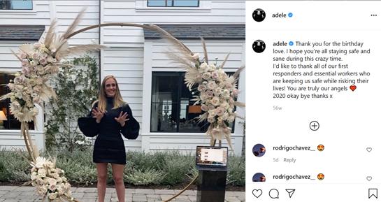Adele Weight Transformation: تُظهر النجمة مظهرها النحيف على Instagram.